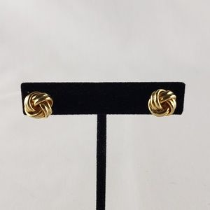 Monet vintage knot earrings- pierced